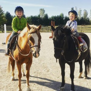 kids on ponie
